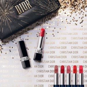 满£80赠Rouge mini 999+化妆镜2019新款迪奥烈焰蓝金烟花限量版唇膏套装, 提前预售 Dior.com