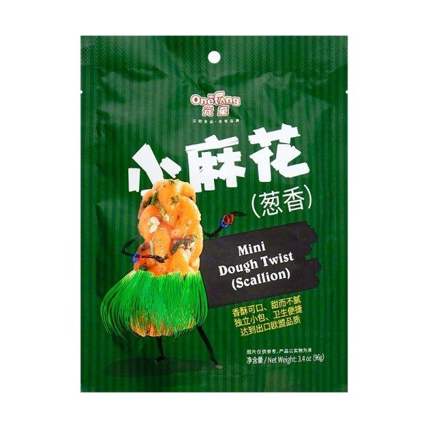 元初食品 元童 小麻花 葱香味 96g