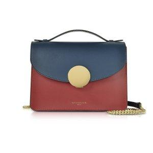 Le ParmentierNew Ondina Color Block Flap Top Leather Satchel Bag