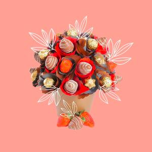 立减$5  有新意的送礼独家:EdibleBlooms 巧克力、水果鲜花定制 给你的TA一个惊喜