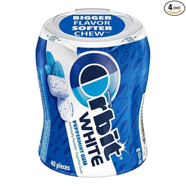 无糖白薄荷口香糖 4罐