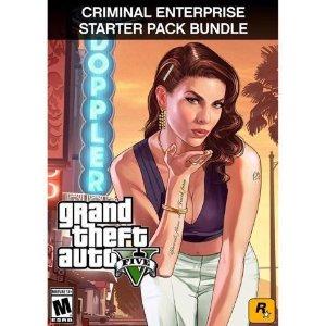 $14.99(原价$49.98)R星热门游戏《侠盗猎车手 V》+ 新手包 或 白鲨卡 PC数字版