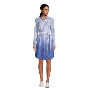 Lands' EndWomen's Cotton Poplin Button Front Shirt Dress
