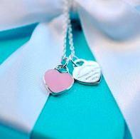 直邮好价¥947折扣升级:TIFFANY  RTT 粉色珐琅吊牌项链