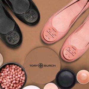 低至4折 + 额外7.5折入明星同款Tory Burch官网 精选美鞋热卖 收经典Logo芭蕾平底鞋