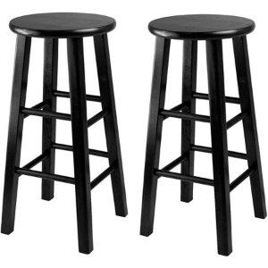 $39Winsome 24寸木制吧台椅 黑色 2张