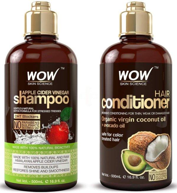 WOW 苹果醋洗发+护发套装特卖 2X500mL