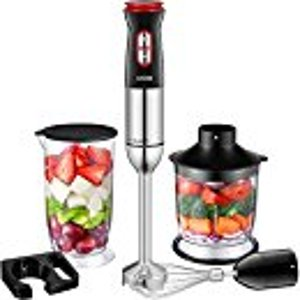 Amazon.com: Immersion Blender, Aicok 4-in-1 Hand Blender, Stick Blender with 12 Speed Control, Powerful Hand Mixer Sets Include Chopper, Whisk, BPA Free Beaker, for Soups, Smoothie, Baby Food - Stainless Steel: Home & Kitchen