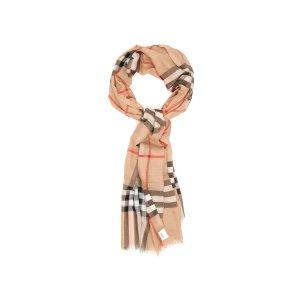 BurberryGIANT GAUZE 格纹围巾