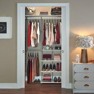 $57.99ClosetMaid 55300 衣柜空间增大收纳架 白色/棕色