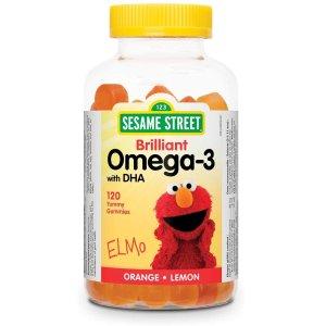 $12.97(原价$15.97)Webber Naturals 儿童营养软糖 芝麻街联名款 综合营养、DHA