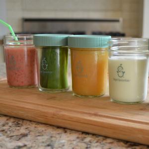 $18Sage Spoonfuls Make in Bulk Glass Jars, 2 8oz & 4 4oz glass jars @ Amazon