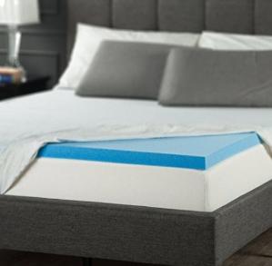 $71.99(原价$103.99)Zinus 2英寸凝胶记忆棉床上层垫 Queen