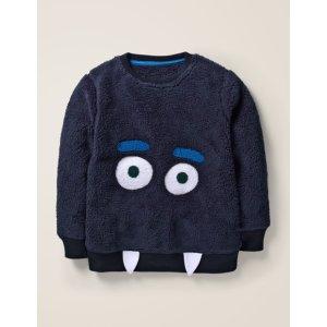 BodenSnuggly Monster Sweatshirt - Navy Blue Monster | Boden US