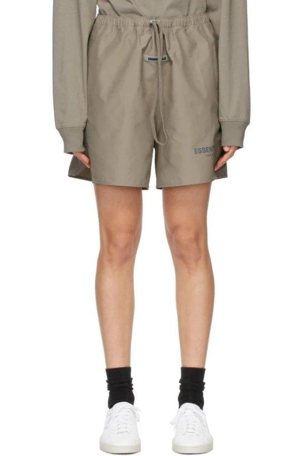 Khaki Logo 短裤
