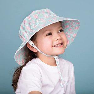 $19.99(原价$26.99) 0-12岁尺码全Jan & Jul 儿童遮阳帽 UPF50+专业防晒 亚马逊4.8星好评