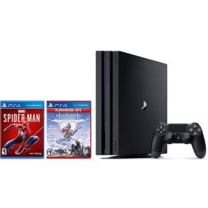$299 (原价$447)闪购:PS4 Pro 1TB 主机,再送《蜘蛛侠》+《地平线》