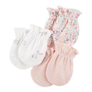 Carter's婴儿防抓手套3对装