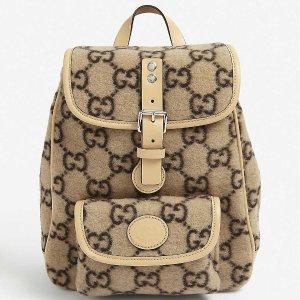 logo围巾$380 双G腰包$505Gucci 超级软萌可爱的大童包包、围巾专场 变相半价入大牌