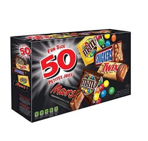 $7.97(原价$11.49)MARS ASSORTED 万圣节巧克力糖果50包装