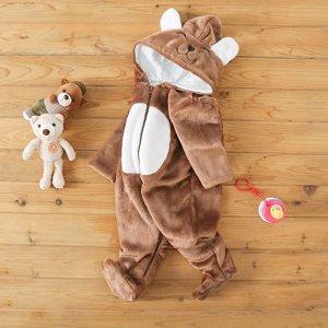 5折 $8.49起LOFELMELT 婴幼儿100%纯棉连体衣,超可爱泰迪熊造型