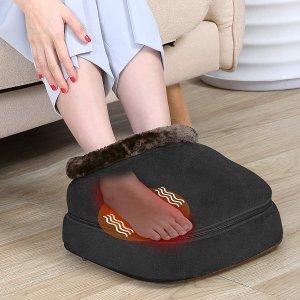 优惠价€39.96Snailax 2合1 红外加热震动足部/腰背按摩器热卖 舒缓压力