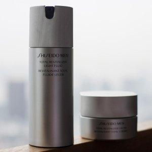 无门槛8折+运通卡立返$35+送礼Shiseido 男士护肤线特卖会 收水乳、洗面奶