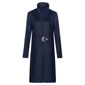 HUGO藏青色立领大衣