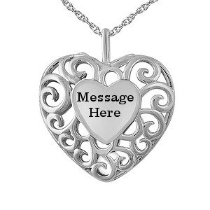 From $79.87起Color Stone Family Caged Heart Necklace