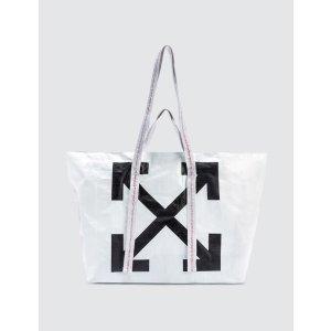 Off-White两件立享6折箭头购物袋