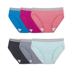 Fruit of the Loom Women's Heather Bikini Panties, 6 Pack
