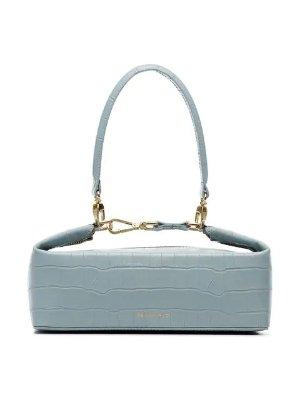 Rejina Pyo Blue Olivia Crocodile Embossed Leather Box Bag - Farfetch