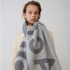 无门槛8.5折 £85收囧脸短袖Acne Studios 秋季新款大促 围巾、短袖、外套等都有