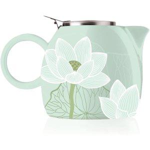 $19.00(原价$38.46)Tea Forte 高颜值暖心茶壶24oz 易清洗无残留