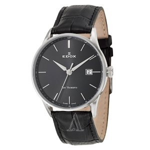 Extra 20% OffEdox Men's Les Vauberts Day Date Automatic Watch 80081-3-NIN
