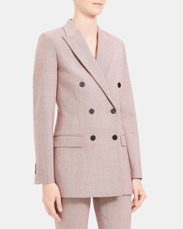 樱花粉西装外套