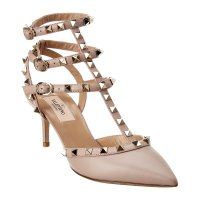 Valentino 粉色铆钉鞋