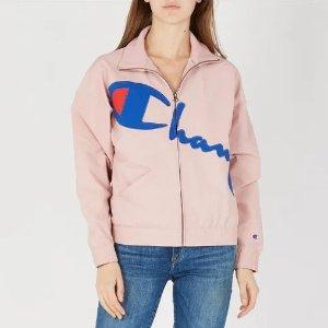 Champion3折!粉色刺绣高领运动夹克