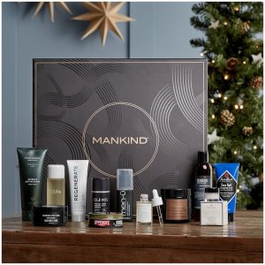 首降5.5折¥495免邮中国(价值超¥3300)Mankind 2019圣诞12天倒数日历,含Elemis面霜,CR洗发膏等12件单品