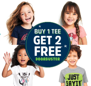 BUY 1,GET 2 TEES FREE Doorbuster Sale @ OshKosh BGosh