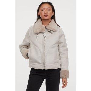 H&M封面同款毛茸茸外套