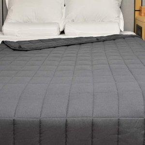 $104.99(原价$134.99) 免邮网红重力毯 15磅 包裹全身的安全感 改善失眠再也不会踢被子