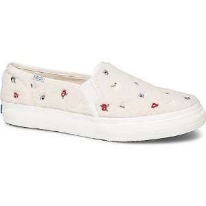 KedsDouble Decker Embroidered Faux Shearling