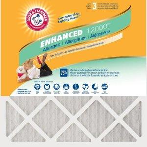 低至5.5折限今天:Arm & Hammer 防敏空调过滤网12个装 多尺寸可选