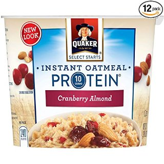 $10.76Quaker Instant Oatmeal Express Cups, Cranberry Almond, Individual Cups (Pack of 12)