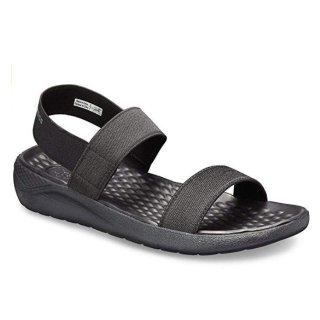 低至$24.95(原价$44.99) 全黑款Crocs 女士沙滩鞋小潮鞋热卖  又轻又软又舒适