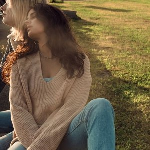 $49(org.$69)Urban Outfitters Oversized V-Neck Sweater Sale