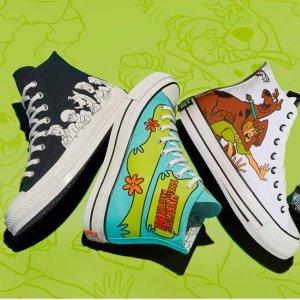 $35起 会员包邮Converse官网 Scooby-Doo联名款服饰、鞋履上新