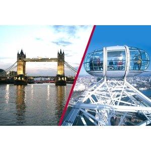 码:23DEALMBAG伦敦眼+泰晤士河游船两人票