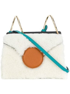Danse Lente shearling crossbody bag $390 - Shop AW18 Online - Fast Delivery, Price